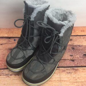 Women's Sorel Winter Boots Gray Size 10 Insulated